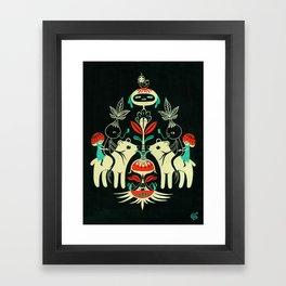 Mandragora and bear / Mandragora y oso Framed Art Print