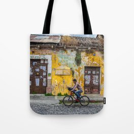 Antigua by bicycle Tote Bag