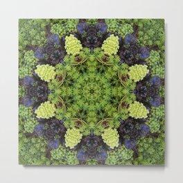 Filigree Foliage Kaleidoscope Metal Print