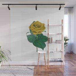 Single Standing Rose (Yellow) Wall Mural