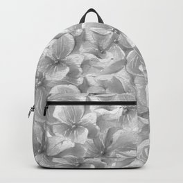 Elegant gray white hand painted watercolor floral Backpack