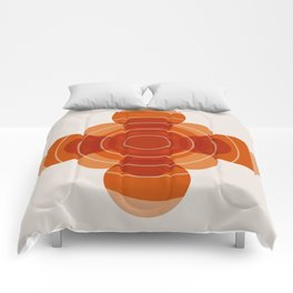 Earthy Red Scandinavian Floral Design Comforters
