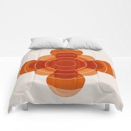 Earthy Red Scandinavian Floral Design Comforters