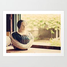Woman in a Window Art Print