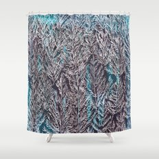 Snow Pines(Blue) Shower Curtain