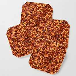 Hot and spicy crushed chilli peppers Coaster
