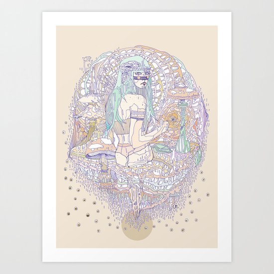 hues in moss Art Print