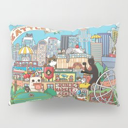 Seattle cats Pillow Sham