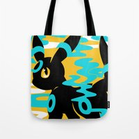 umbreon Tote Bags featuring #197 - Umbreon (shiny ver.) by Solis