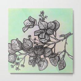 """Get Floral """"Earthly Measure Metal Print"""