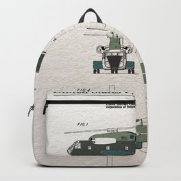 Helicopter patent color Backpack