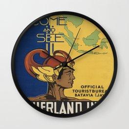 Vintage poster - India Wall Clock