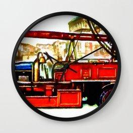 Vehicule-de-pompiers Wall Clock