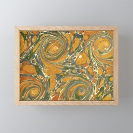 Old Marbled Paper 03 Framed Mini Art Print