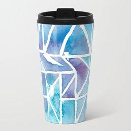 AQUA AND PINK AVA WATERCOLOUR Travel Mug