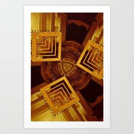 Collegiate Corridors Art Print