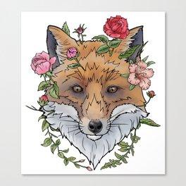 Boho Fox Canvas Print