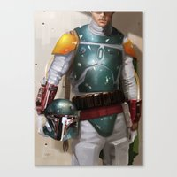 boba fett Canvas Prints featuring Boba Fett by Yvan Quinet
