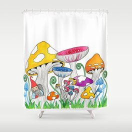 Gnome Village Shower Curtain