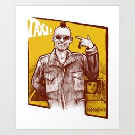Taxi! Art Print