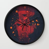 transformers Wall Clocks featuring Grunge Transformers: Autobots by Sitchko Igor