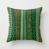 bamboo Throw Pillows featuring Bamboo by glorya