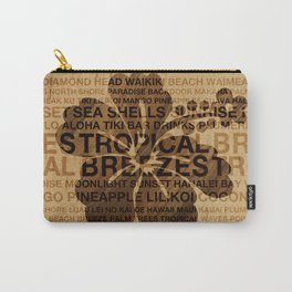 Summer Words Hawaiian Hibiscus Graphic Design Carry-All Pouch