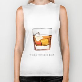 Alcohol Poster,Funny Poster Whiskey Art,Make Mine a Double,Alcohol Gift,Whiskey Cocktail,Inspiring Biker Tank