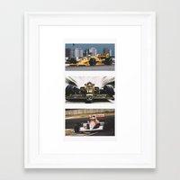 senna Framed Art Prints featuring Senna by Rassva