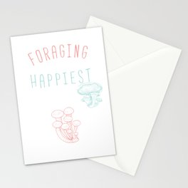 Forager Wilderness Forager Mushroom Food Resources Ecology Foraging Is My Happiest Place Gift Stationery Cards