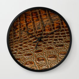 It's A Croc! - Faux (2D) Crocodile Hide Wall Clock