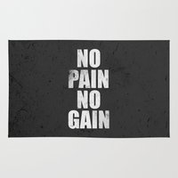fitness Area & Throw Rugs featuring Lab No. 4 - Fitness Motivation Inspirational Gym Quotes Poster by Lab No. 4