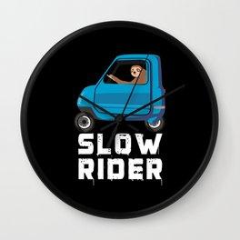 Slow Rider Wall Clock