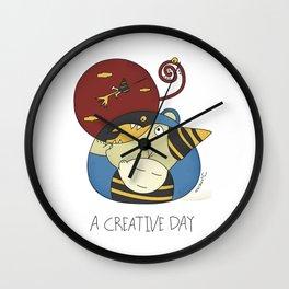A Creative Day Wall Clock