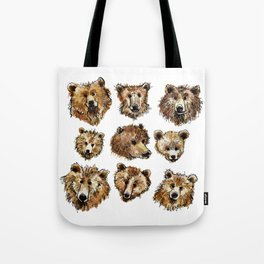 Goofy Grizzly Bears Tote Bag