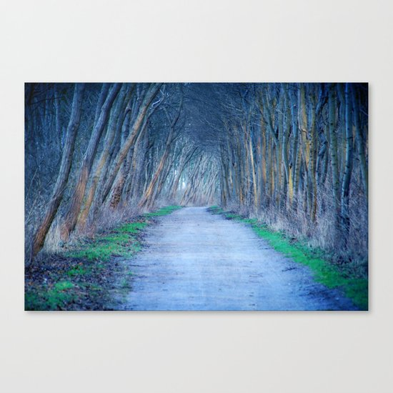 the blue way Canvas Print
