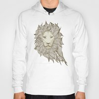 lion Hoodies featuring Lion by Vickn