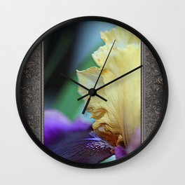 Tall Bearded Iris named Final Episode Wall Clock