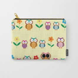 sweet owls patterns Carry-All Pouch