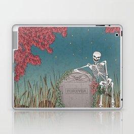 Skeleton Leaning on Grave Laptop & iPad Skin