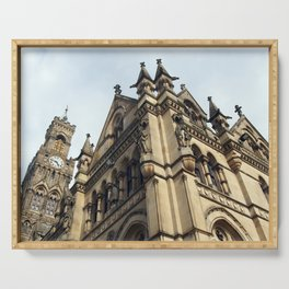 gothic revival - bradford city hall Serving Tray