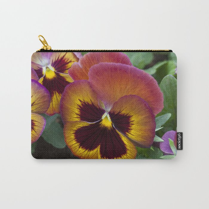 Pansy Painted Carry-All Pouch