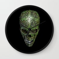 data Wall Clocks featuring Bad data by GrandeDuc