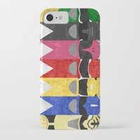 power rangers iPhone & iPod Cases featuring Mighty Morphin Power Rangers by Some_Designs