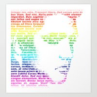 elvis Art Prints featuring Elvis by ron ashkenazi
