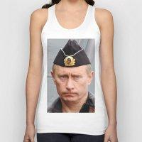 putin Tank Tops featuring Putin seaman. by Mikhail Zhirnov