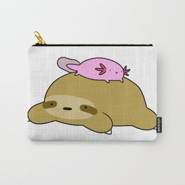 Axolotl and Sloth Carry-All Pouch
