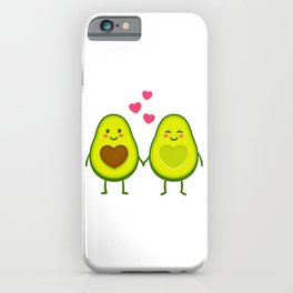 Cute avocados in love iPhone Case