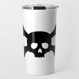 Simple Black Skull and Crossbones Travel Mug