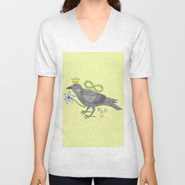 Crowns and Birds, Swords and Things Unisex V-Neck